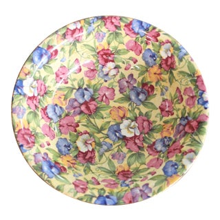 1930's Antique Royal Winton Sweet Pea Pattern Chintz Small Bowl For Sale