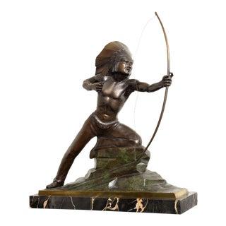 French Art Deco Bronze Signed E. Guy