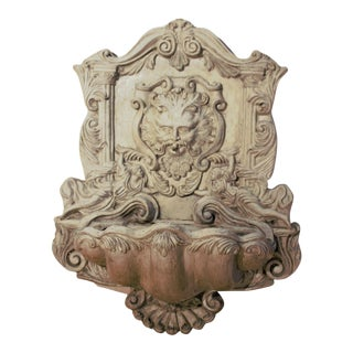 Antique Sculptural Figural Wall Fountain For Sale