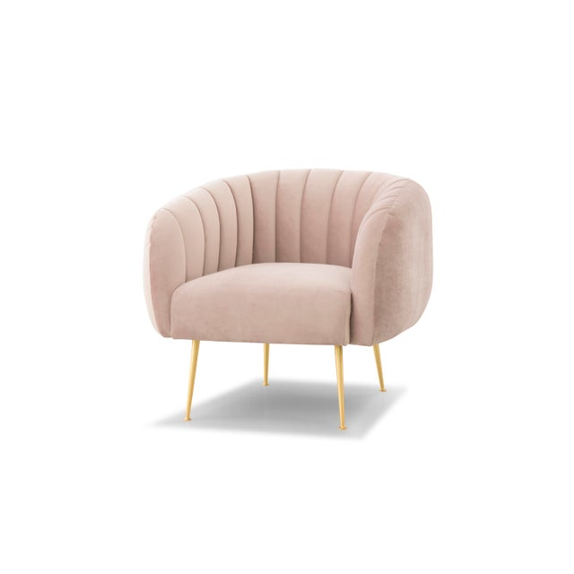 Wood Pink Taylor Accent Chair For Sale - Image 7 of 7