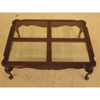 1990s Queen Anne Ethan Allen Georgian Court Cherry Large Coffee Table Preview