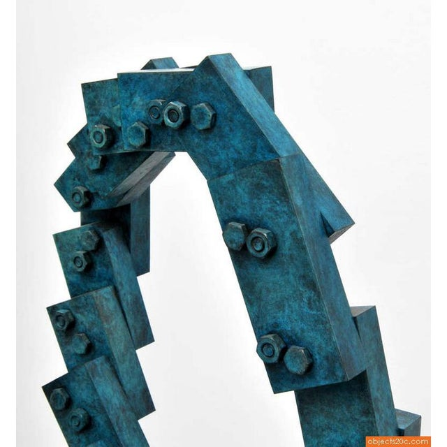 """1990s Vintage Larry Mohr """"Nancee"""" Abstract Bronze Sculpture For Sale - Image 4 of 9"""