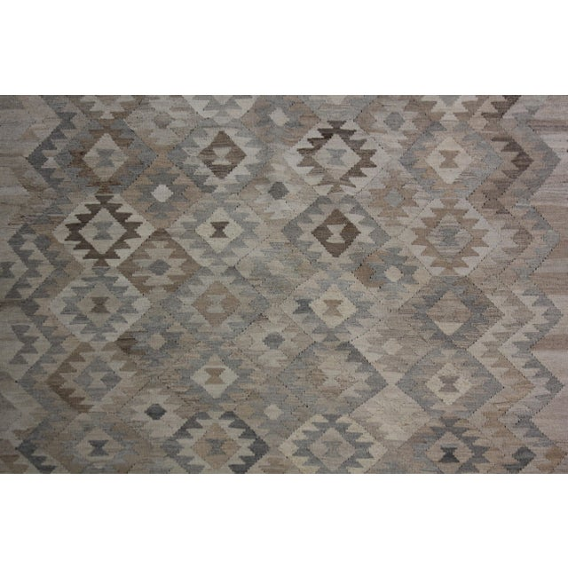 """Hand-Knotted Modern Kilim by Aara Rugs - 9'7"""" x 6'10"""" For Sale - Image 4 of 6"""