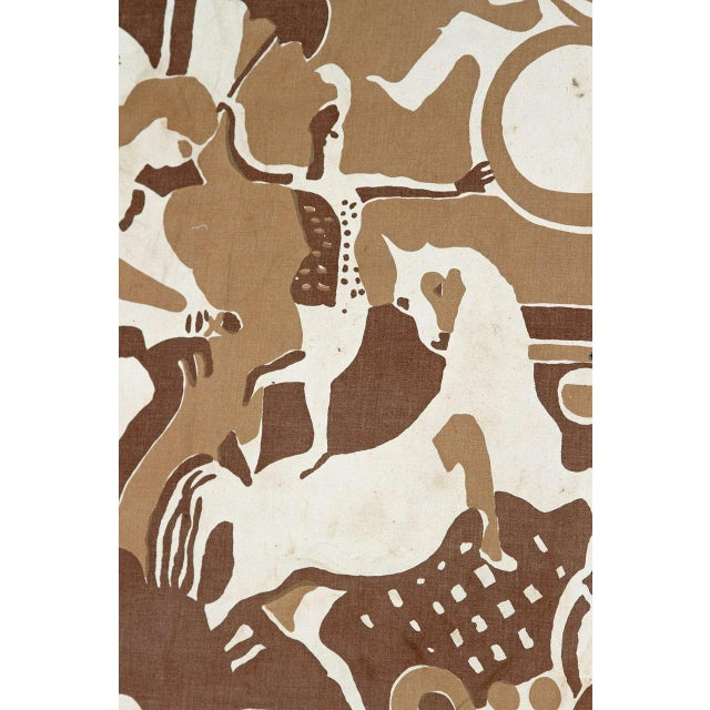 Canvas Radio City Music Hall Ruth Reeves Jazz Age Fabric Remnant For Sale - Image 7 of 9