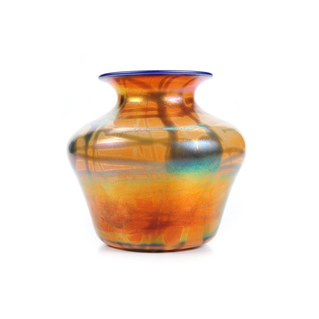 Mid 19th Century Imperial Art Glass Heart & Vine Decor Vases- A Pair For Sale - Image 5 of 9
