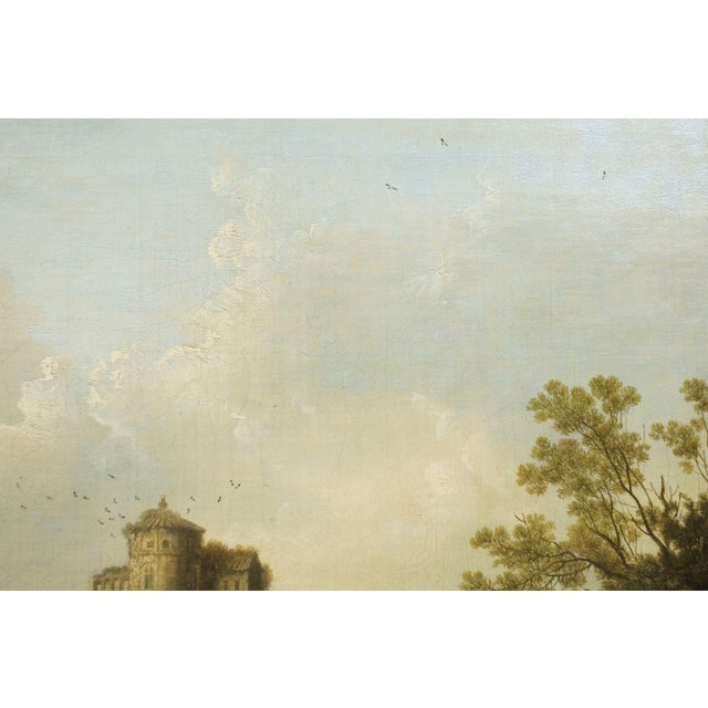 """""""Landscape W/ Castle Ruins"""" Antique English Painting by George Smith of Chichester For Sale - Image 12 of 13"""