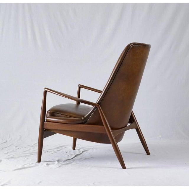 "Wood Ib Kofod-Larsen High Back ""Seal"" Chair For Sale - Image 7 of 10"