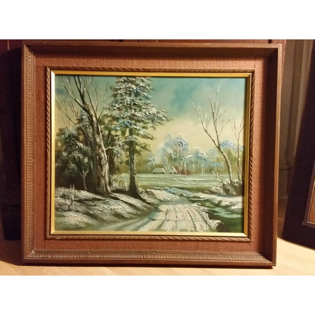Mid-Century Signed Japanese Oil Painting - Image 2 of 8