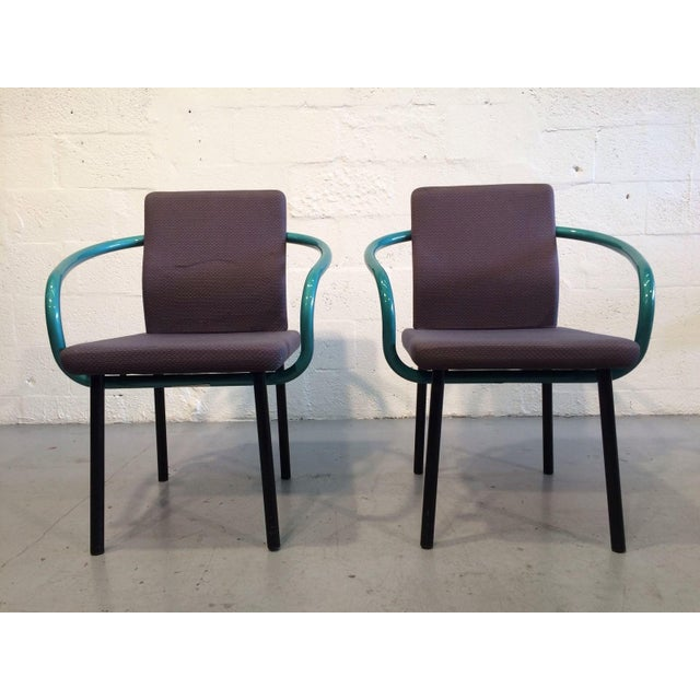 Ettore Sottsass Ettore Sottsass Mandarin Chairs for Knoll - A Pair For Sale - Image 4 of 11