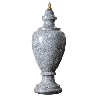 Granite Gray Urn/Finial For Sale