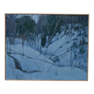 "Stephen Remick ""Dusk in Winter by the Brook"" Painting For Sale"