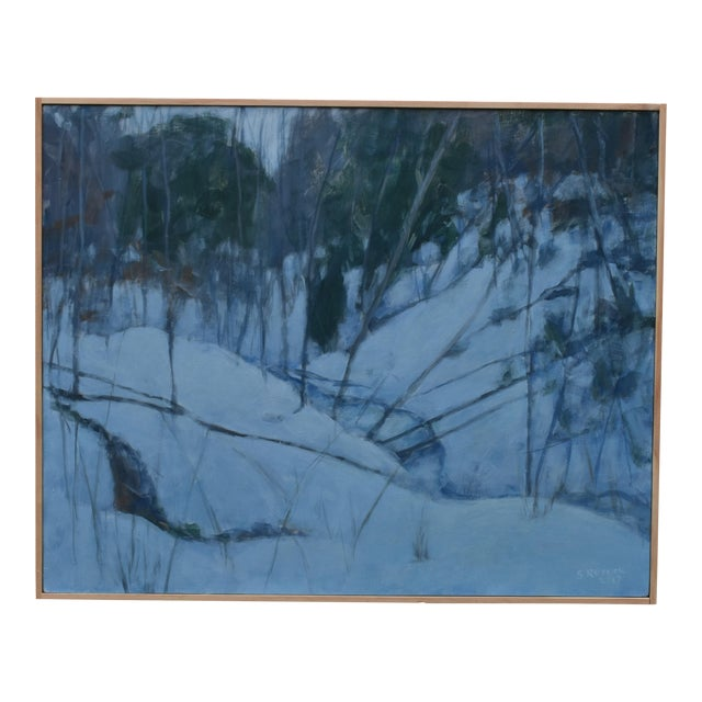 """Stephen Remick """"Dusk in Winter by the Brook"""" Painting For Sale"""