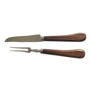 Hoffritz England Carving Steak Knife and Fork Set For Sale