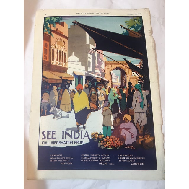 1935 'See India' Lahore Scene Ad For Sale - Image 4 of 11