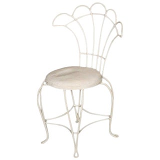 French Rod Iron Fan Back Outdoor/Patio Chairs For Sale