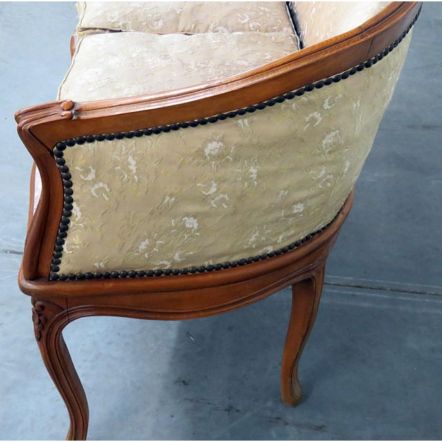 Early 20th Century Antique Louis XV Style Settee For Sale - Image 5 of 10