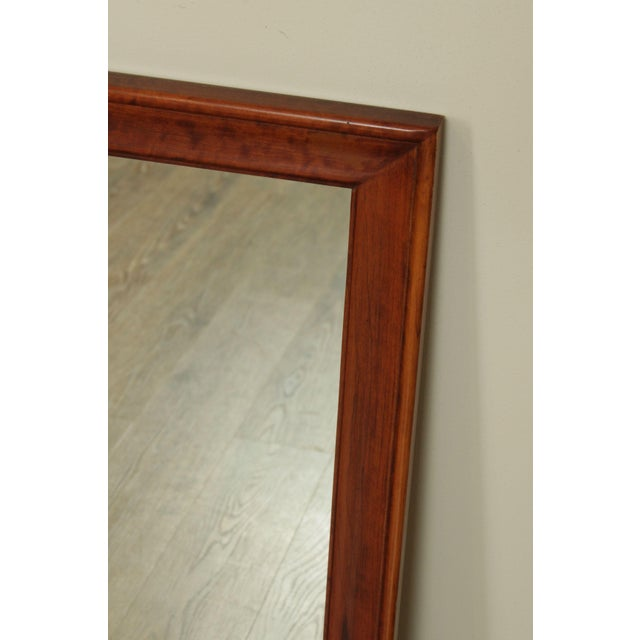 Vintage Solid Cherry Wood Frame Rectangular Wall Mirror ...