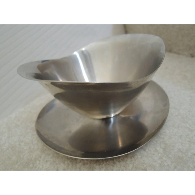 Japanese Stainless Steel Gravy Bowl For Sale - Image 3 of 7