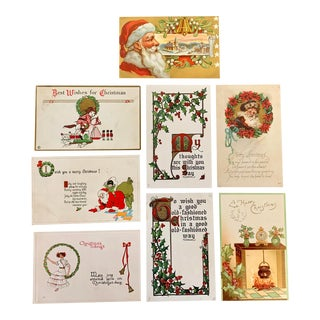 Santa & Holiday Postcards, Early 1900s For Sale
