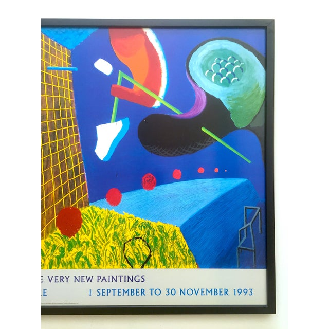 """Abstract David Hockney Rare Vintage 1993 """" the Other Side """" Lithograph Print Framed Collector's Pop Art Exhibition Poster For Sale - Image 3 of 13"""