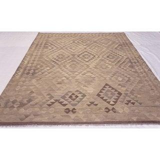 Handwoven Geometric Kilim Wool Rug - 6′9″ × 9′10″ Preview