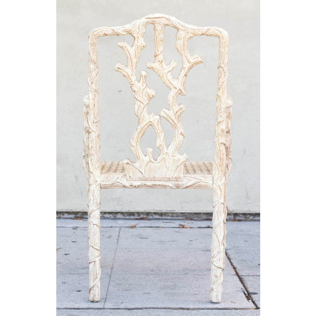 Decorative Branch Faux-Bois Chairs - Set of 4 - Image 6 of 10