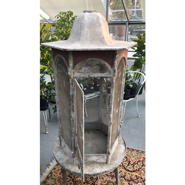 This French-inspired Aviary is designed with faux-weathered metal to provide a vintage look. Constructed of iron faux...