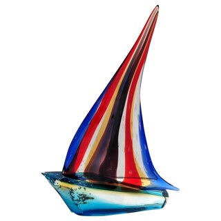 Sailboat Sculpture by Sergio Costantini For Sale