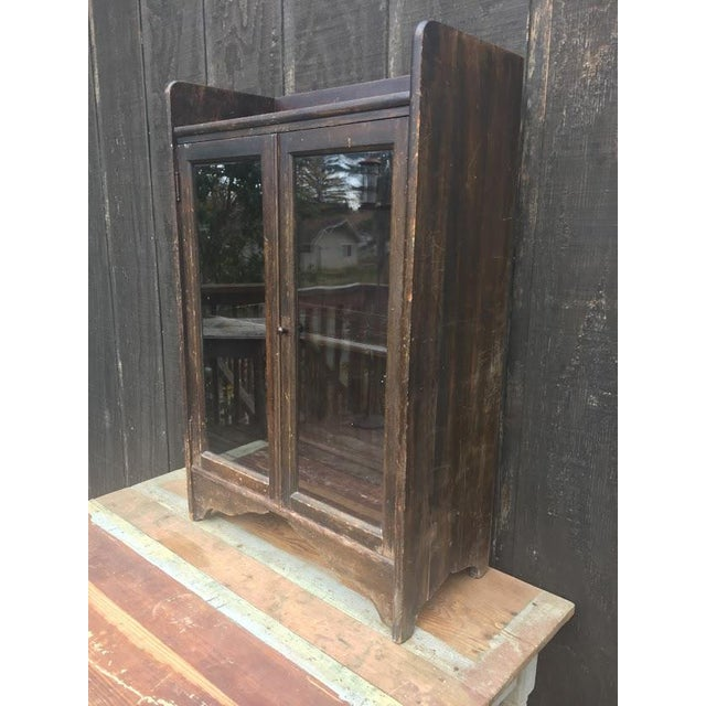 Boho Chic Distressed Wooden Bookcase For Sale - Image 3 of 11