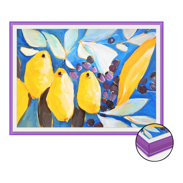 IL Bosco by Lulu DK in Dark Purple Transparent Acrylic Shadowbox, XS Art Print For Sale