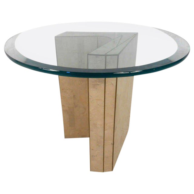 Vintage Marcius for Casa Bique Tessellated Stone End Table - Image 1 of 6