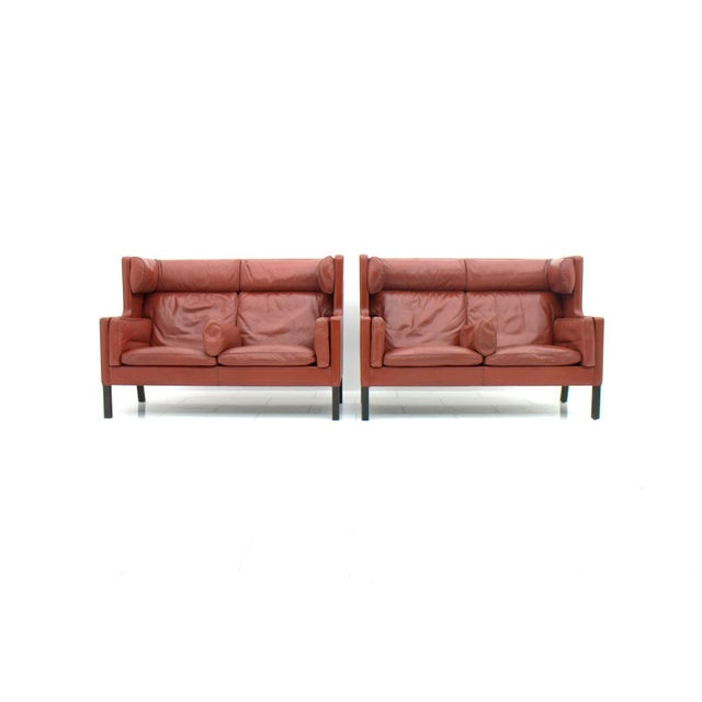 One of Two Børge Mogensen Coupe Leather Sofa 2192 Made by Frederica, Denmark For Sale - Image 10 of 10