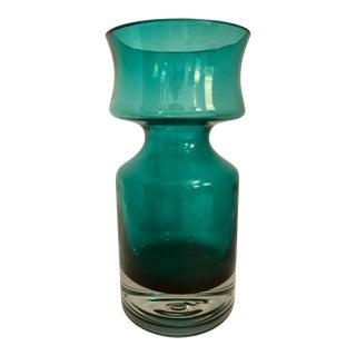 Emerald Green Glass Vintage Vase For Sale
