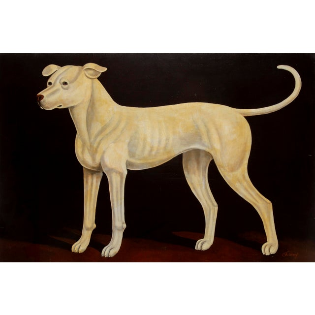 Canvas William Skilling, Irish Hound Dog, Oil on Canvas, Signed For Sale - Image 7 of 7