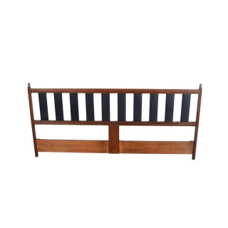 Mid Century Modern Walnut Headboard King Size Headboard For Sale