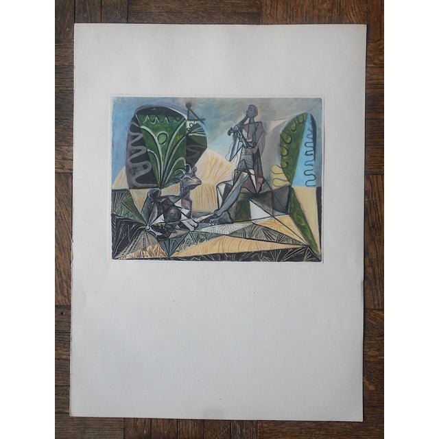 Pablo Picasso Vintage Abstract Mid-Century Picasso Lithograph-From Verve Art Journal For Sale - Image 4 of 4