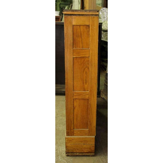 Rustic Wooden Narrow Bookcase For Sale - Image 3 of 4