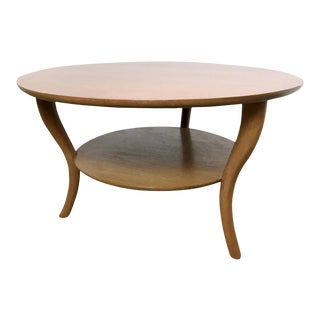 1950s Mid-Century Modern Robsjohn Gibbings Saber Leg Walnut Coffee Table