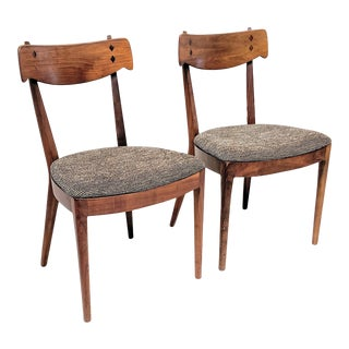 Mid-Century Modern Kipp Stewart for Drexel Dining Chairs- A Pair For Sale
