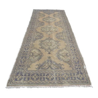Turkish Oushak Handwoven Runner - 4′6″ × 11′11″