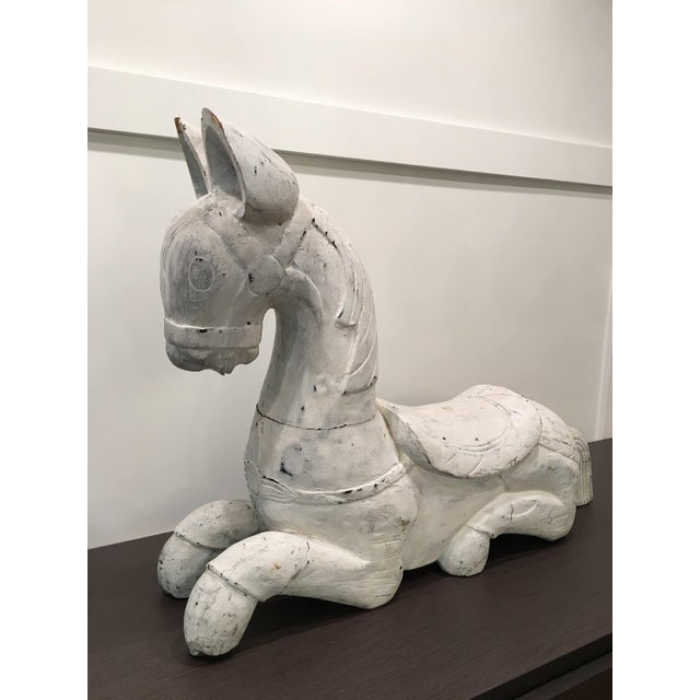 Wood 20th Century Folk Art Horse Sculpture For Sale - Image 7 of 11