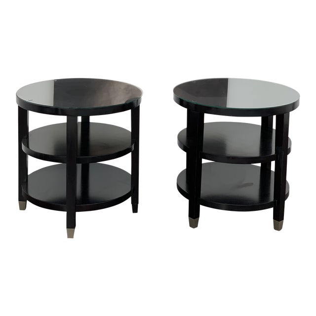 Side Tables From Gumps - a Pair For Sale