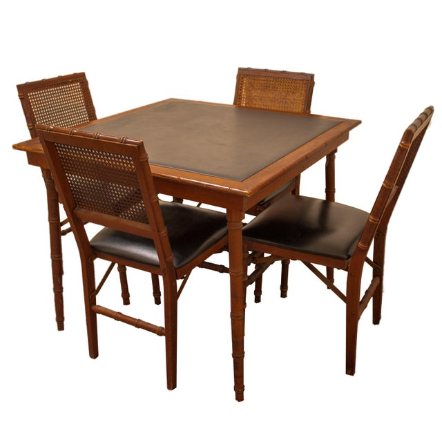 Mid Century Stakmore Folding Game Table And Chairs S 5
