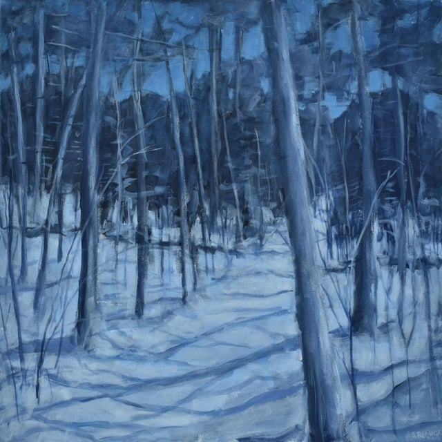 """Stephen Remick """"Silent Moonlight"""" Contemporary Expressionist Landscape Painting For Sale"""