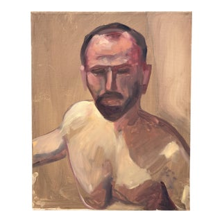 Figural Portrait Painting Acrylic on Canvas For Sale