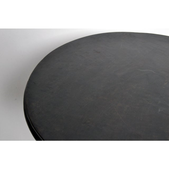 Lacquer British Colonial Burmese Round Table For Sale - Image 7 of 11