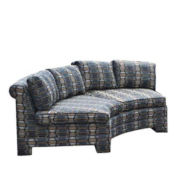 1970s Vintage Milo Baughman Circular Sectional Sofa For Sale - Image 5 of 8