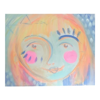 """Abstract Acrylic Painting """"Abstract Girl"""" by Alice Miles For Sale"""