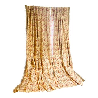 A Pair of Custom Chinoiserie Curtains For Sale