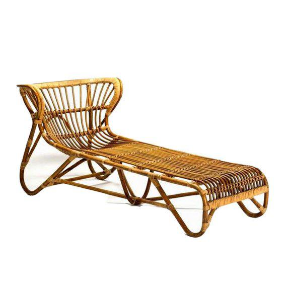 1960s Mid Century Modern Franco Albini Chaise Lounge Sculpted Bamboo Daybed For Sale - Image 5 of 12